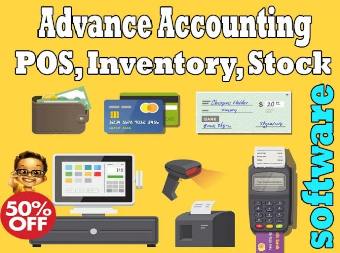 I will develop advance accounting, stock, inventory and crm,pos software